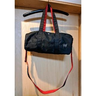 ポーター(PORTER)の美品 PORTER L-fine ロールボストンバッグ 魅せるポーターの黒と赤(ボストンバッグ)