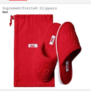 シュプリーム(Supreme)のSupreme/Frette Slippers シュプリーム スリッパ Red (スリッパ/ルームシューズ)