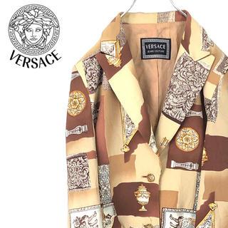 ヴェルサーチ(VERSACE)のmurata様専用!ヴェルサーチ テイラードジャケット 総柄 イタリア製 正規品(テーラードジャケット)