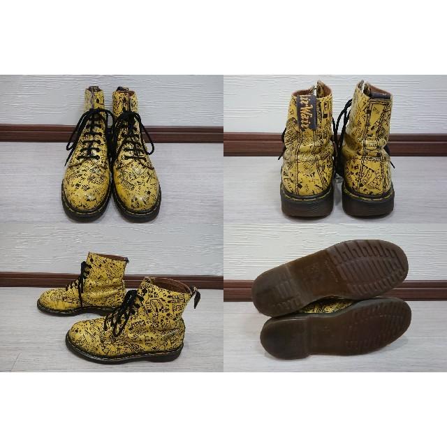 Dr.Martens(ドクターマーチン)のレア❗訳ありイングランド製Dr.Martens 総柄 8ホールブーツ 6 レディースの靴/シューズ(ブーツ)の商品写真
