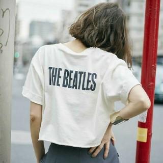 アメリヴィンテージ(Ameri VINTAGE)の早い者勝ち!amerivintage新品タグ付きビートルズTシャツ(Tシャツ(半袖/袖なし))