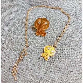 ツモリチサト(TSUMORI CHISATO)のTSUMORI CHISATO スカルデザインネックレス&リングセット(ネックレス)