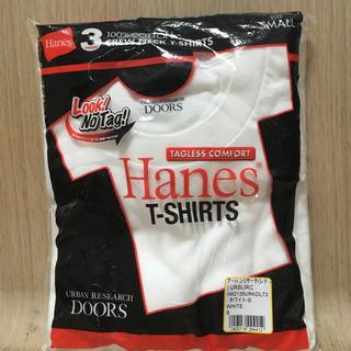 ドアーズ(DOORS / URBAN RESEARCH)の新品 アーバンリサーチ × Hanes 白 Tシャツ 3枚セット(Tシャツ/カットソー(半袖/袖なし))