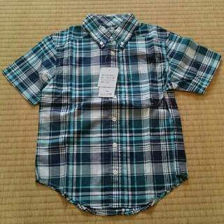 シマムラ(しまむら)のしまむら 半袖チェックシャツ グリーン系(ブラウス)