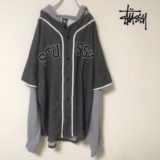 7e621a13db ステューシー(STUSSY)のStussy ベースボールシャツ 重ね着 風パーカー(パーカー)