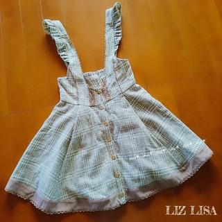 リズリサ(LIZ LISA)の《LIZ LISA》フリル レース チェック柄 ジャンパースカート 0(ミニワンピース)