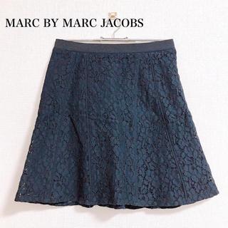 マークバイマークジェイコブス(MARC BY MARC JACOBS)のMARC BY MARC JACOBS 花柄 刺繍 スカート(ひざ丈スカート)