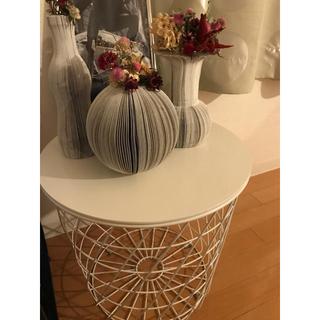 イケア(IKEA)のKVISTBRO クヴィストブロー 収納テーブル, ホワイト,44cm(ローテーブル)