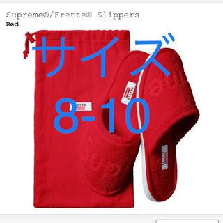 シュプリーム(Supreme)の【サイズ8ー10レッドカラー】supreme スリッパ(スリッパ/ルームシューズ)