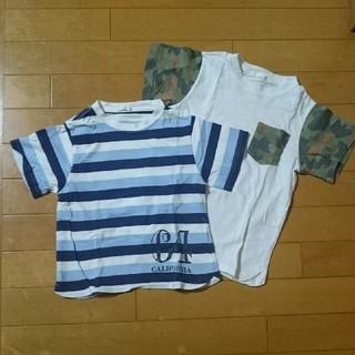 ジーユー(GU)のGU110Tシャツ2枚セット!迷彩ボーダー(Tシャツ/カットソー)