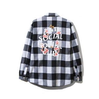 アンチ(ANTI)のASSC アンチソーシャルソーシャルクラブ ネルシャツ S 19SS 桜(シャツ)