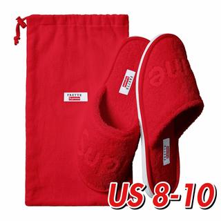 シュプリーム(Supreme)の×2点 【8-10】Supreme / Frette Slippers Red(スリッパ/ルームシューズ)