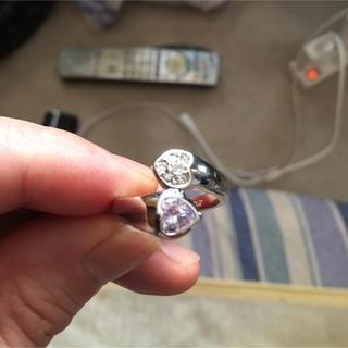 18金GPRダイアモンドアメジスト指輪(リング(指輪))