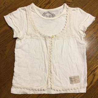 ビケット(Biquette)のビケット レースTシャツ 110cm(Tシャツ/カットソー)