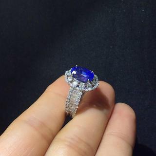 天然サファイアダイヤモンド指輪(リング(指輪))