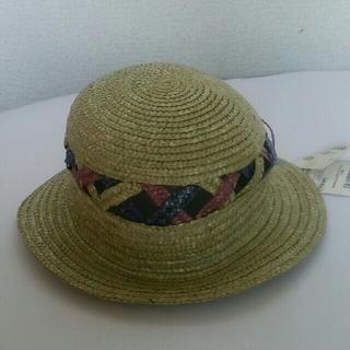 【新品】☆ENRIKOCOVERY  麦わら帽子  48cm 天然草使用 黄緑