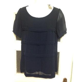 イネド(INED)の新品未使用☆INED 紺 半袖 トップス(カットソー(半袖/袖なし))