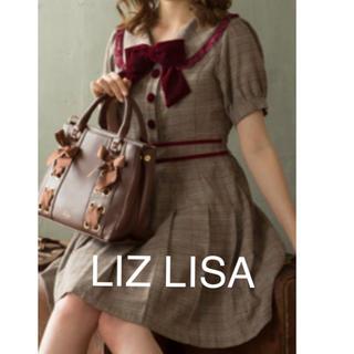 リズリサ(LIZ LISA)の25 グレンチェックワンピース LIZ LISA  新品 未使用 送料込み(ミニワンピース)