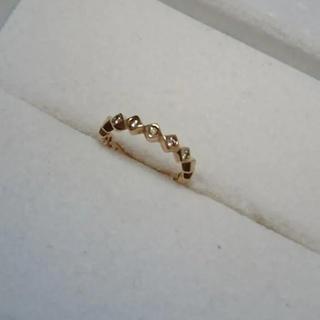 ジュエリーマキ(ジュエリーマキ)のピンクゴールド × ダイアモンド ピンキーリング ジュエリーツツミ(リング(指輪))