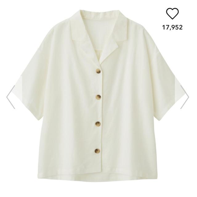 GU(ジーユー)の リネンブレンドオープンカラーシャツ レディースのトップス(シャツ/ブラウス(半袖/袖なし))の商品写真