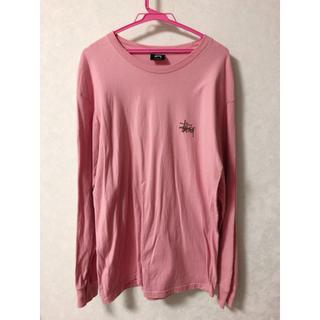 ステューシー(STUSSY)のstussy ピンクの可愛い ロンT Lサイズ(Tシャツ/カットソー(七分/長袖))