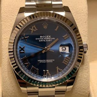 ロレックス(ROLEX)のオレンジ様 専用 ロレックス デイトジャスト41ブルーローマ 126334 (腕時計(アナログ))