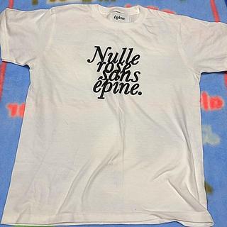 エディットフォールル(EDIT.FOR LULU)のepine ❤︎ Tシャツ white(Tシャツ/カットソー(半袖/袖なし))