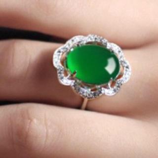 軟玉 翡翠 リング 緑 グリーン (リング(指輪))