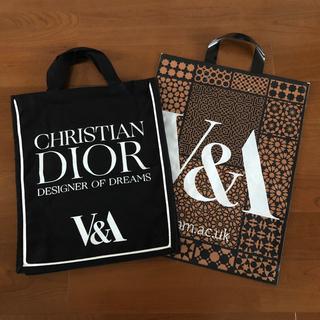 ディオール(Dior)の英国期間限定★Dior★トートバック★ビクトリアアルバート★ブラック(トートバッグ)