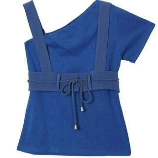 アメリヴィンテージ(Ameri VINTAGE)のアメリヴィンテージ MEDI ENROULER ROPE TOP ブルー(Tシャツ(半袖/袖なし))