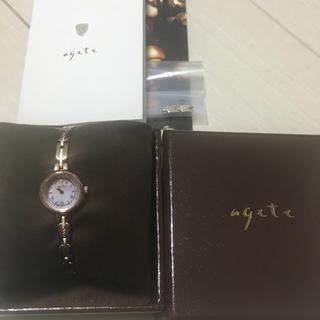 アガット(agete)の【現行品】agete ソーラー&一粒ダイヤ腕時計(腕時計)