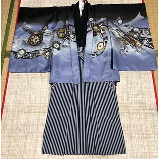七五三 五歳用着物、羽織セット 端午の節句 お正月  卒園式  舞台衣装