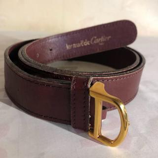カルティエ(Cartier)のCartier メンズベルト 100%牛革 つけ心地抜群!美品(ベルト)