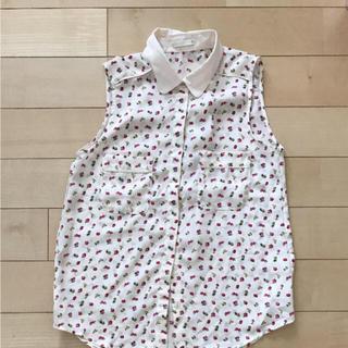 ジーユー(GU)のGU ノースリーブ シャツ(シャツ/ブラウス(半袖/袖なし))