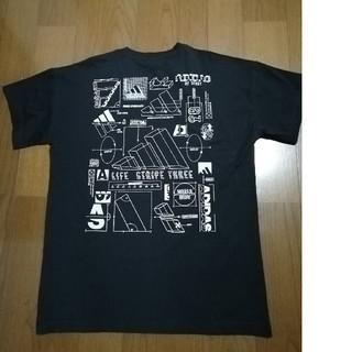 アディダス(adidas)のサービス値下げ❗adidas サイズXLバックプリントT 黒XL 未使用タグ付き(Tシャツ/カットソー(半袖/袖なし))