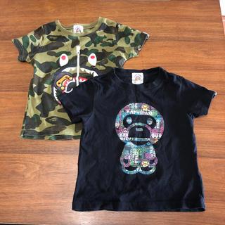 アベイシングエイプ(A BATHING APE)の【値下げ】BAPE KIDS Tシャツ 2枚✴︎XLARGEお好きな方にも(Tシャツ/カットソー)