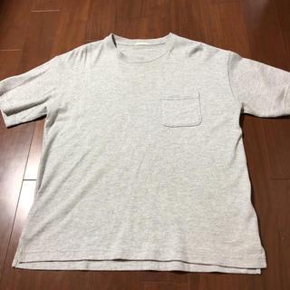 ジーユー(GU)のGU 無地Tシャツ グレー M 美品(Tシャツ/カットソー(半袖/袖なし))
