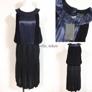 フェンディ(FENDI)のフェンディ ドレス ワンピース シルクシフォン ノースリーブ 結婚式 E844(ロングワンピース/マキシワンピース)