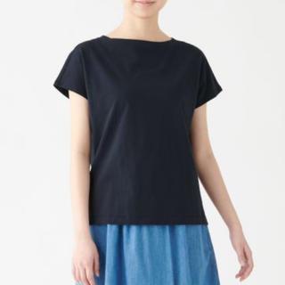 ムジルシリョウヒン(MUJI (無印良品))のフレンチスリーブTシャツ L(カットソー(半袖/袖なし))