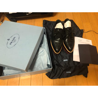 プラダ(PRADA)のprada プラタ 37.5センチ 国内正規品 (ローファー/革靴)