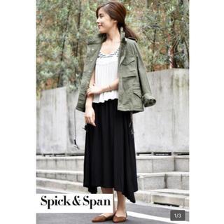 スピックアンドスパン(Spick and Span)の新品タグ付き スピック&スパン 1.4万 L'eclair スカート 黒(ロングスカート)