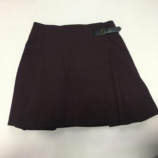 ユニクロ(UNIQLO)のラップスカート 巻きスカート ボルドー(ミニスカート)