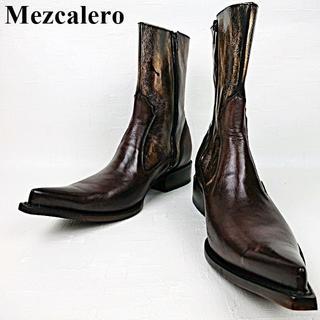 Tony Lama - 美品 メスカレロ Mezcalero メキシコ製 ウエスタンブーツ サイドジップ