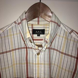 アーペーセー(A.P.C)のAPC チェックシャツ men's xs(Tシャツ/カットソー(半袖/袖なし))