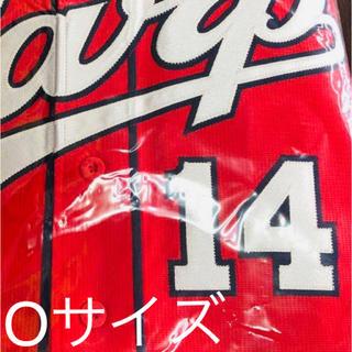 ヒロシマトウヨウカープ(広島東洋カープ)の大瀬良大地 Oサイズ 限定ホームデザイン 赤 ハイクオリティユニフォーム(ウェア)