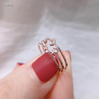K18 ダイヤモンド リング 新品(リング(指輪))