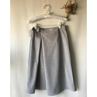 ジーユー(GU)の巻きスカート風(ひざ丈スカート)