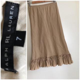 ラルフローレン(Ralph Lauren)のローレンラルフローレン麻100%スカート(ひざ丈スカート)