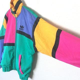 adidas - 90s 古着 adidas USA製 ナイロンジャケット アディダスオリジナル
