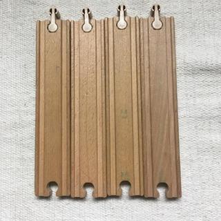 イケア(IKEA)のIKEA 木製レール セット ストレート  直線 片面(電車のおもちゃ/車)